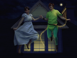 Peter Pan and Wendy II by Phadme