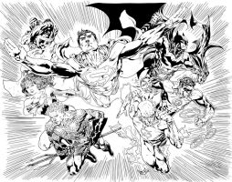 Justice League by Ardian Syaf by Pendecon