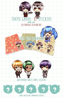 COMING SOON!  TOKYO GHOUL: RE  STICKERS by Helenoodle