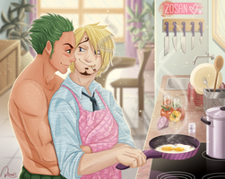 What do we have for breakfast? (ZoSan) by ringochan94