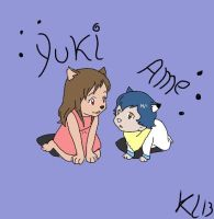 Wolf children Ame and yuki by alucardserasfangirl