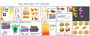 Troll Palettes 2.0 :rules in description: by Kanaya--Maryam