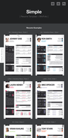 Simple Template - Resume Examples by CaJoE-Design