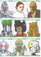 Clone Wars sketch cards 4 by NORVANDELL