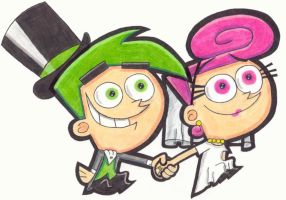 Cosmo and Wanda's wedding day by Cosmo4eva