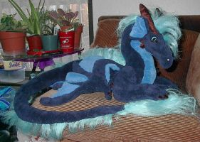 Darkk dragon plush by kategod