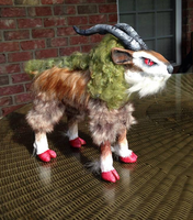 Realistic Pokemon Gogoat Posable OOAK Doll by AmethystCreatures