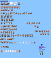 MLSS Power Squirrel Mario Sprites Sheet by PxlCobit