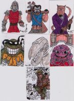TMNT SKETCH CARDS IN COLOR 2 by shawncomicart