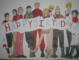 HAPPY BIRTHDAY FROM TEH CREW by Doridachi