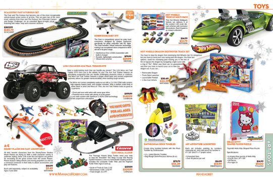 Maniacs Hobby Holiday Catalog 2013 - Pages 3-4 by jPhive