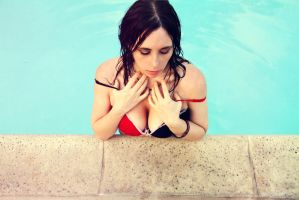 By the pool by Stephanie-van-Rijn