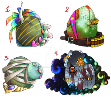 :Mystery Eggs: Batch 2 CLOSED by RainbowLuvAdopts