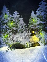 Winter Fireflies 01 by Trisste-stocks