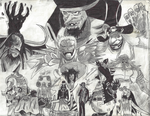 One Piece Collage Drawing by CrannyCrane