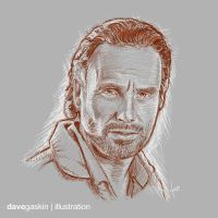 [sketch] Rick Grimes by BikerScout
