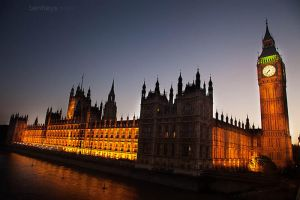 Houses of Parliment by evening by sifu