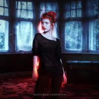 Hayley In The Dark Dress by paramore-designs