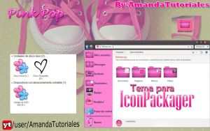 Theme For Iconpackager ''PinkPop'' by AmandaDeJb