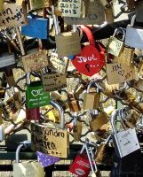 Different locks on the Bridge of Love by EUtouring