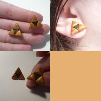 Triforce Stud Earrings by ChibiSilverWings