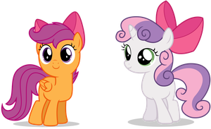 Sweetie and Scoots Bows by RainbowDerp98