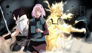 Naruto 632  - TEAM 7 by IFrAgMenTIx
