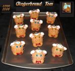 Gingerbread Tom Minis by crokittycats
