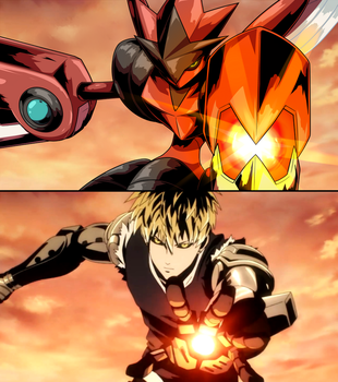 Commission: One Punch Mon - Scizor (Genos) by Mgx0