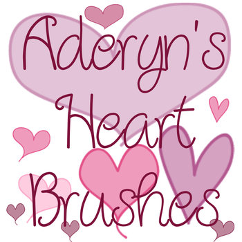 Heart Brushes by Aderyn-Azula