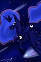 Luna's Comet by SabreKitty