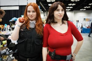 Indiana Comic Con Amy Pond and Oswin Oswald by SirKirkules