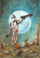 Star Wars: Clone Trooper by antonvandort