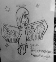 gigi as the christmas angel by Claddle