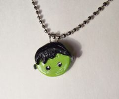 Cute Frankenstein necklace by kikums