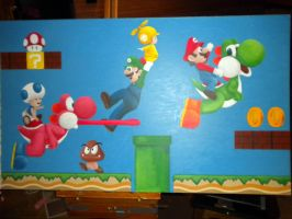 Super Mario Bros Wii Painting by britkneemo