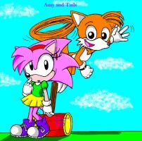 Classic Amy and Tails by SonicSega1991