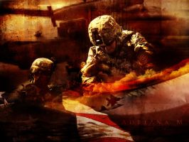 One Team- American Soldiers by BreakthroughDesigns