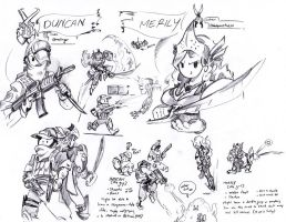 videogame sketchings by TripsOcho