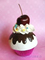 Cherry Sundae Cupcake by FrostedFleurdeLis