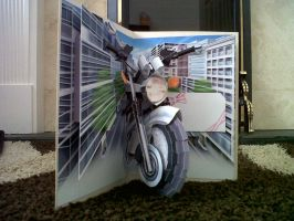 Motorbike Card Inside by Clarobell