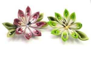 More lily barrettes by offgenemi