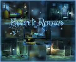Secret Rooms backgrounds by moonchild-ljilja