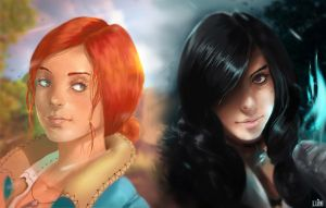 Triss  Yennefer by ludocreator