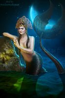 Black mermaid by mashamaklaut