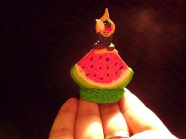 Yoga on a watermelon slice! by Artzy-chick