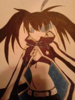 BLACK ROCK SHOOTER! (colored) by NARUFRO93