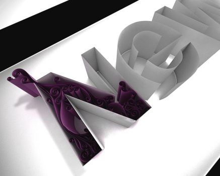 3D quilling test by Mutthz