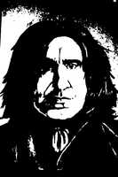 A Portrait of Severus in Black and White by kibasgirl4ever