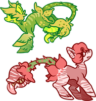 || Nommy tail plant thing pones || by cinnabutt